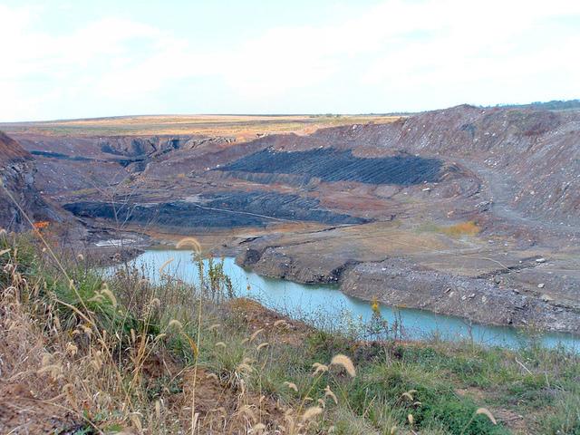 A strip mine in Sullivan County, Indiana
