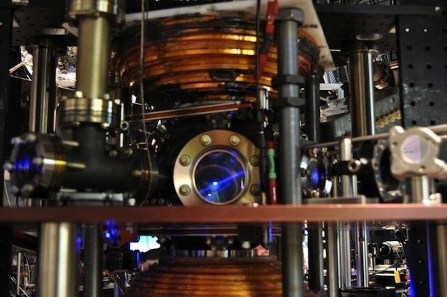 A magneto-optical trap for atoms.
