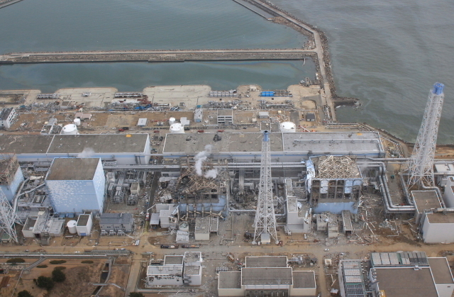 The smoldering reactor buildings at Fukushima are in very close proximity to the ocean.