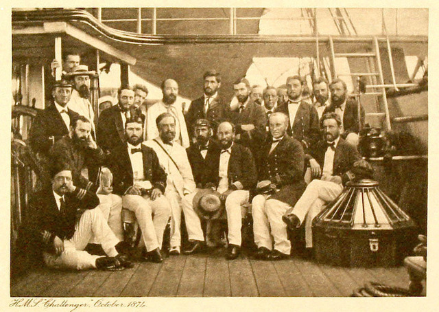 The crew of the Challenger expedition.