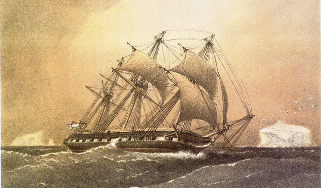 Painting of HMS Challenger by William Frederick Mitchell