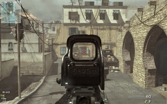 At his trial, Breivik said playing <i>Modern Warfare</i> provided good practice using a holographic sight like this one.