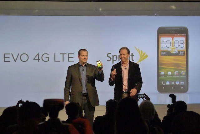 Dan Hesse, CEO of Sprint, and Jason Mackenzie, President of HTC, introduce the HTC EVO 4G LTE