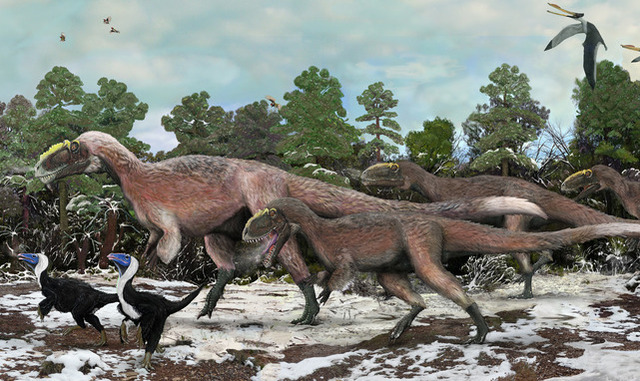 Feathers may have helped T. rex's relatives ride out a cold climate