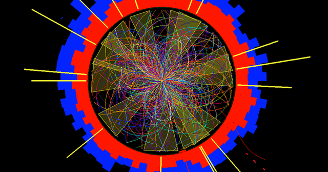The LHC is seeing more collisions at once, making traces like these harder to sort out.