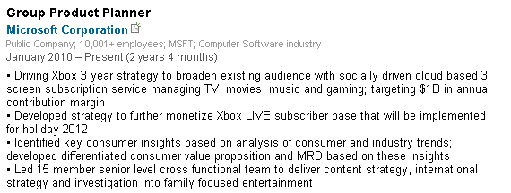 A screengrab from Microsoft Group Product Planner Praveen Rutnam's LinkedIn page shows plans for a new monetization strategy for Xbox Live coming this holiday season.