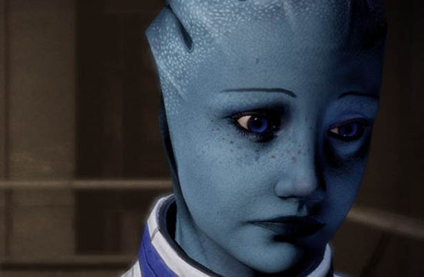 Liara here is doing her impression of many <i>Mass Effect 3</i> players' reaction to the game's ending.