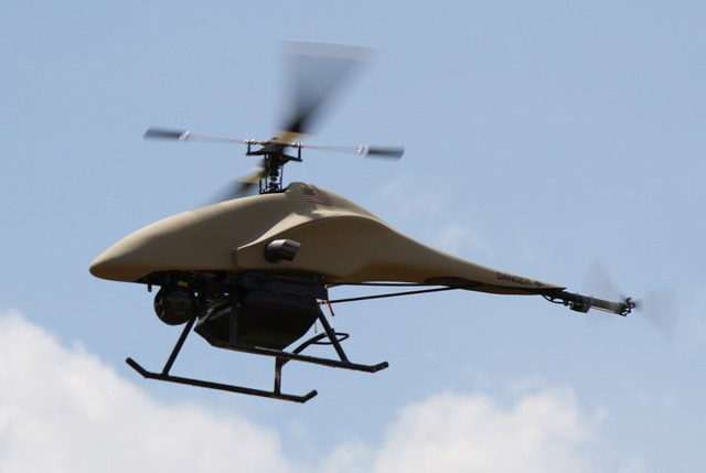 A ShadowHawk drone helicopter
