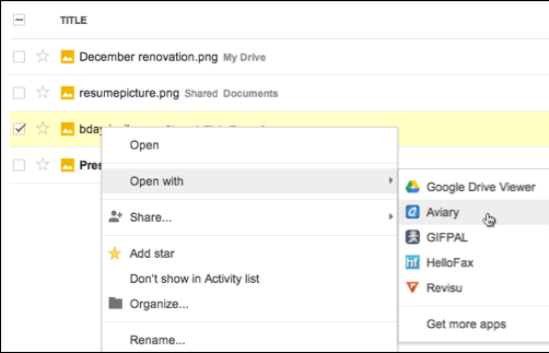 Opening a file from Google Drive in a third-party Web application