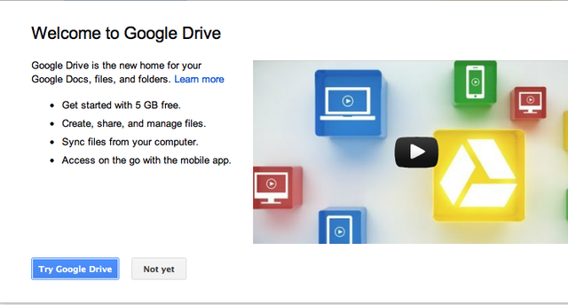 Google Drive is here, and you can install it right now