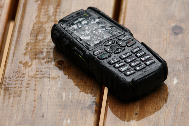 Rugged phones are typically waterproof to some degree. Your average iPhone case...not so much.