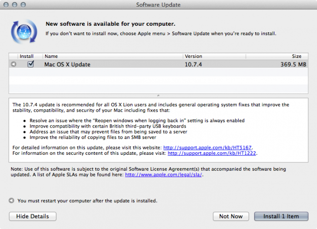 OS X Lion update addresses FileVault password bug, smooths networking