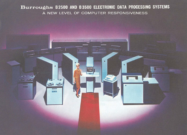 "A brochure for the Burroughs Electronic Data Processing System: ""A new level of computer responsiveness."""