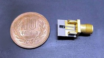 The terahertz wireless radio is small enough to fit in portable devices.