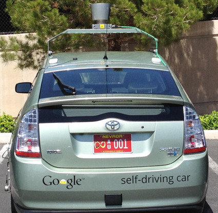 Google has received Nevada's first autonomous-designated license plate