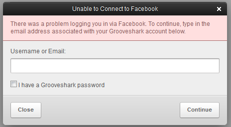 Facebook deliberately bans Grooveshark from its services