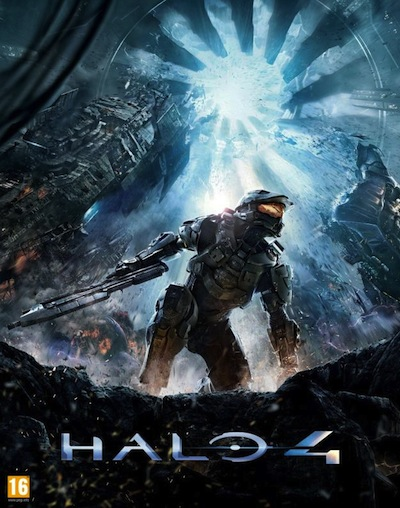 The Halo 4 box art, revealed after many fans pieced a puzzle together