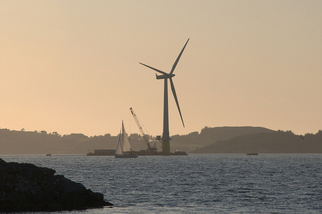 Norway's 2.3-MW Hywind floating turbine may form the blueprint of the larger turbines to come.
