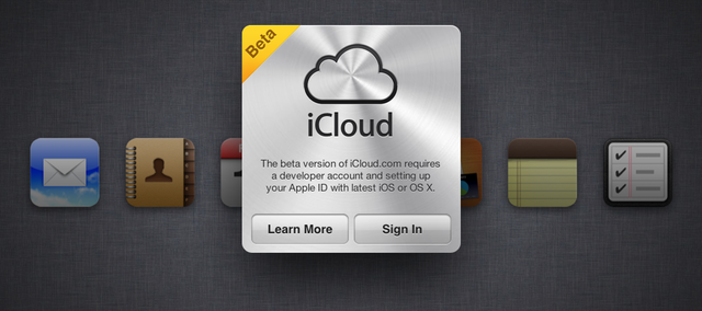 Only developer accounts can log into this new version of the iCloud beta for now.