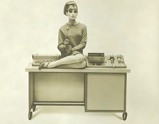 Cover photo for a 1964 brochure for the PDS 1020 Digital Computer.