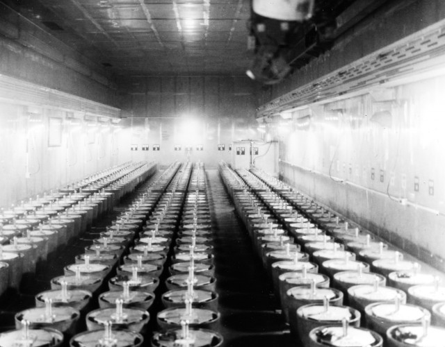 Plutonium storage vault at DOE Rocky Flats Environmental Technology Site in Colorado.