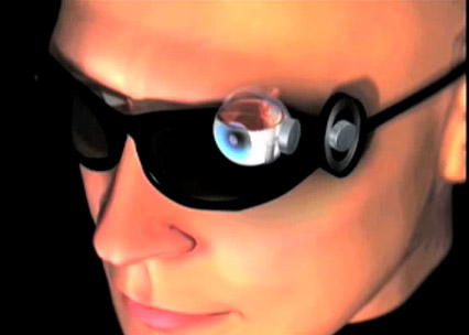 A combination of implant and external goggles would be needed for the new system.