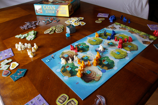 Catan Junior comes with everything you see here! Batteries not included (or required)