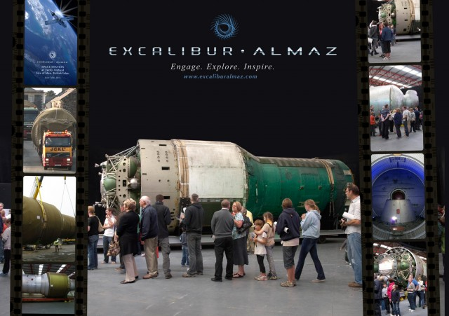 One of Excalibur Almaz's space stations at the Royal Aeronautical Society's European Space Tourism Conference.