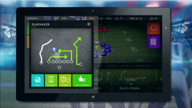 Playing Madden on Xbox 360? Diagram the next play on your tablet.