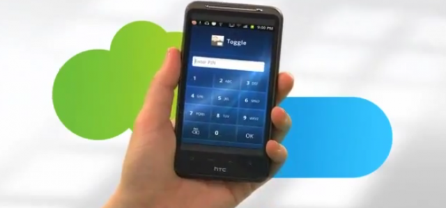 AT&T's Toggle lets users switch between the work and personal parts of their smartphones.