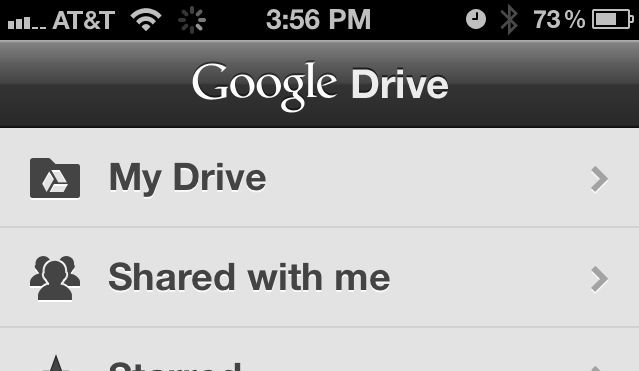 Google Drive on the iPhone.