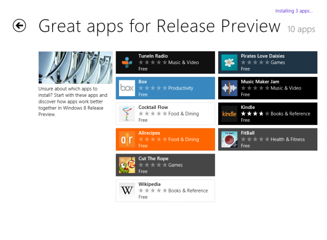 """OK apps for Release Preview"" might be a better heading, but who are we to argue?"