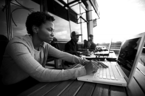Nerdwork on the balcony of iHub.