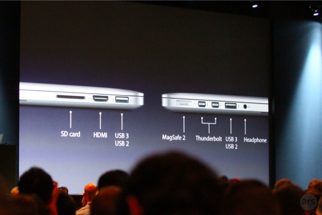 The new MacBook Pro comes with USB 3 and HDMI ports.