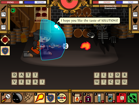 Word Realms is an MMO RPG for people who like the taste of solutions.