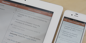 Cheddar for iOS: to-do lists and markdown wherever you go