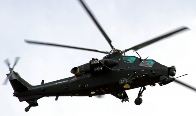 China's  Z-10 attack heliocpter—developed with the help of US engine control software.