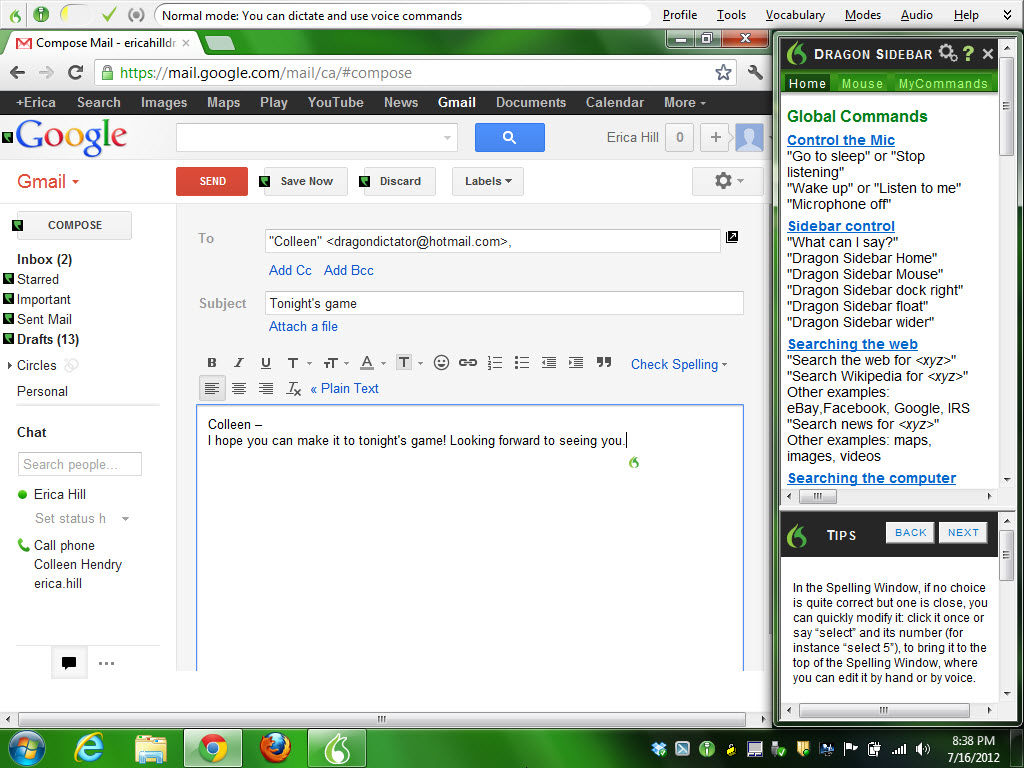 Dragon PC software now lets your voice control Gmail and