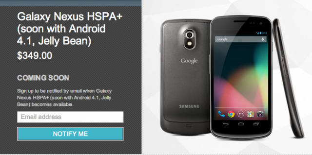 "The unlocked Galaxy Nexus has been listed as ""coming soon"" in the Google Play store since Tuesday."