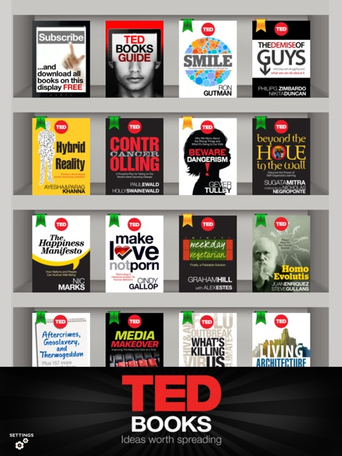 TED Books' home screen on the iPad