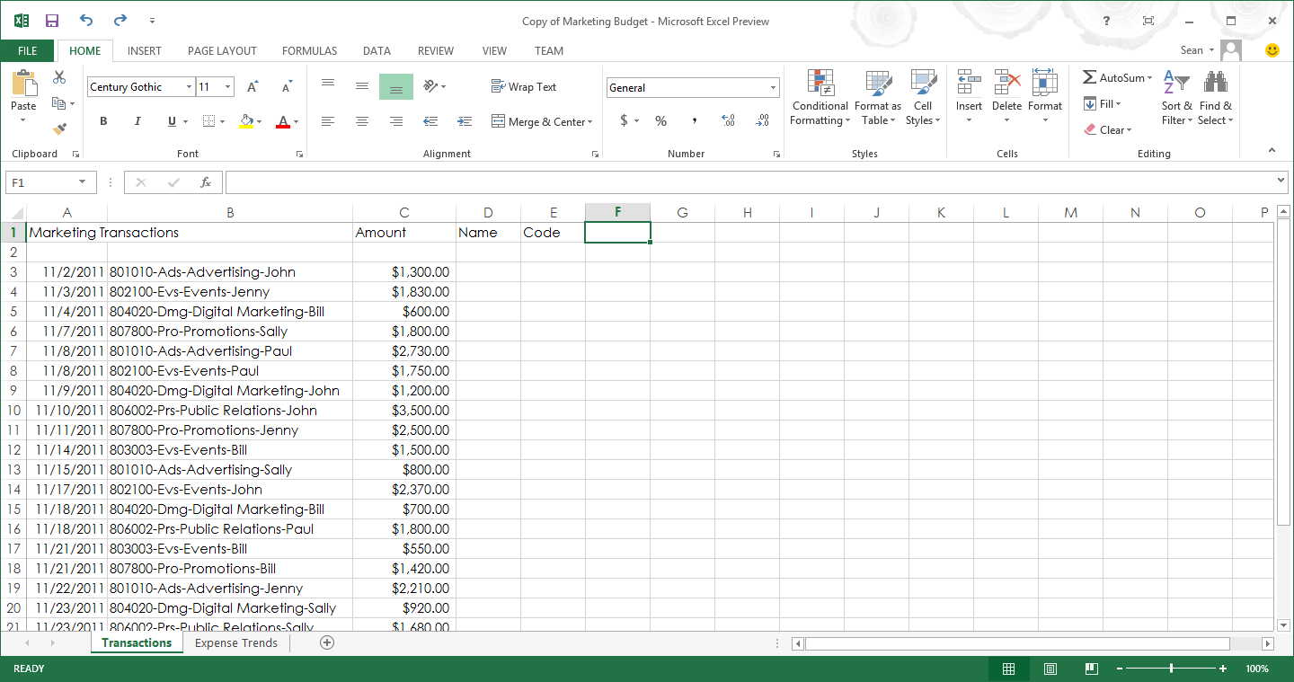 The Excel spreadsheet interface, like Word and the rest of the Office ...