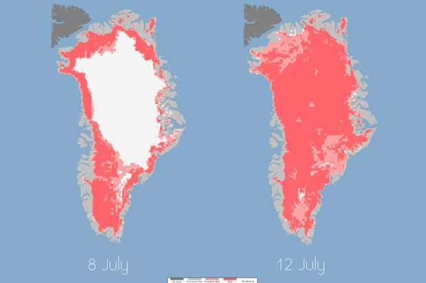 Greenland hit by dramatic ice thaw