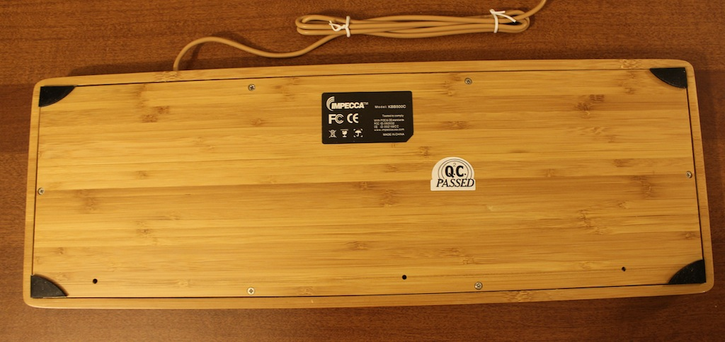 Going Green With Impecca S Hand Carved Bamboo Keyboard And