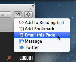 Safari's Share button.