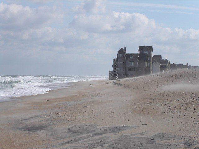Not even the romance of a Nicholas Sparks novel can stop the rising sea from lapping this beach house in Rodanthe, North Carolina.