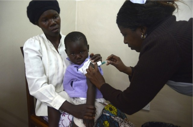 Testing the RTS,S vaccine in Malawi.