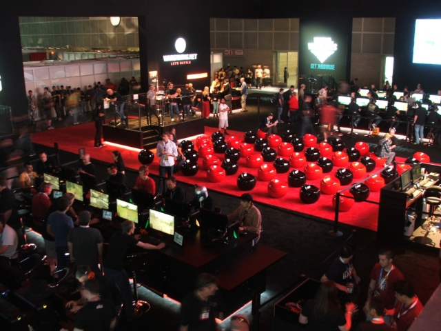 One photo can't capture the sheer size of WarGaming.net's massive E3 booth