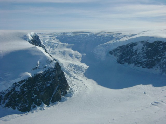 Part of one of Antarctica's massive ice sheets.