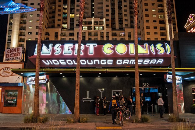 The front of Insert Coin(s) in Las Vegas.