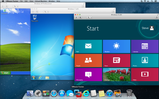 Run any Windows OS from XP to 8 on a Mac with VMware Fusion.